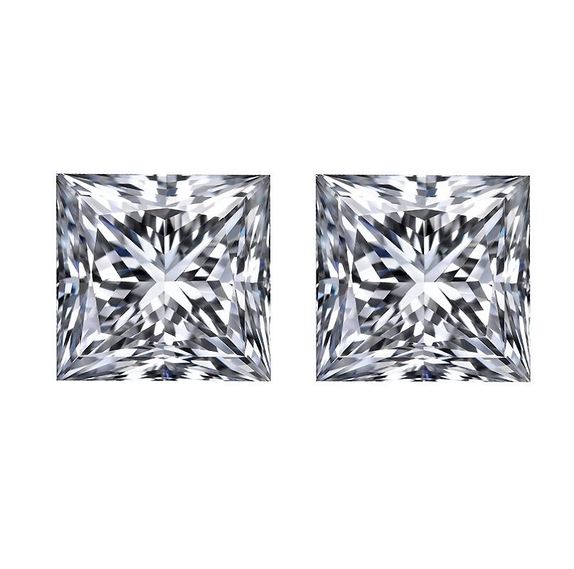 loose princess cut diamond, Loose Princess Cut Diamond Matching Pairs & Side Stones