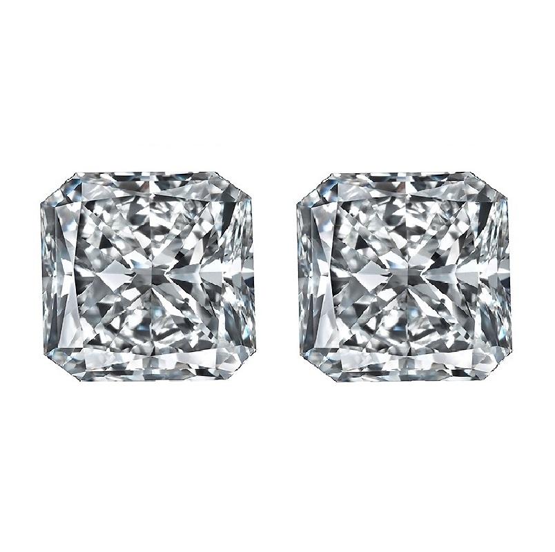 Square Radiant Diamond Cut, Square Radiant Diamond Cut Matching Pairs & Side Stones