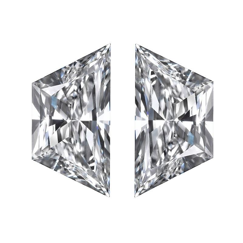 Trapezoid Diamond Pairs, Brilliant Cut Trapezoid Diamonds Matching Pairs & Side Stones