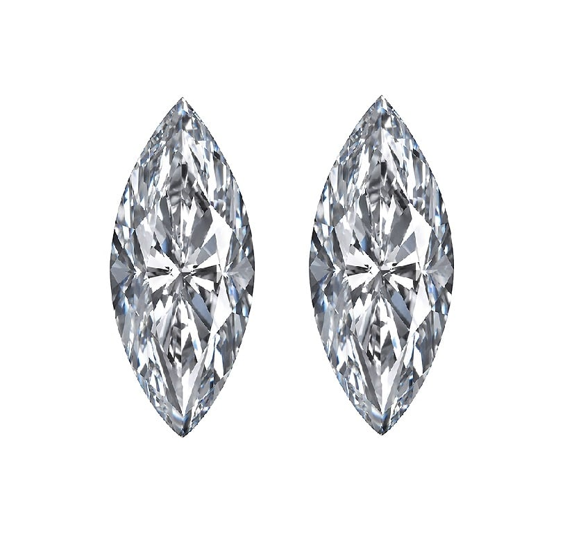 Marquise Step Cut Diamonds, Marquise Step Cut Diamonds Matching Pairs & Side Stones