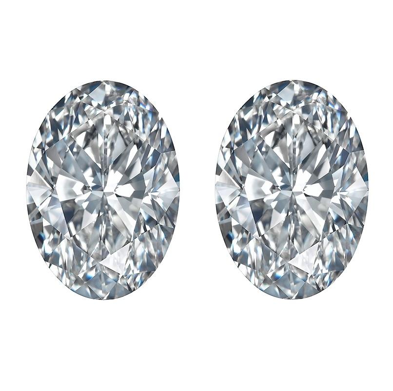 oval cut diamond, Oval Cut Diamond – Matching Pairs & Side Stones