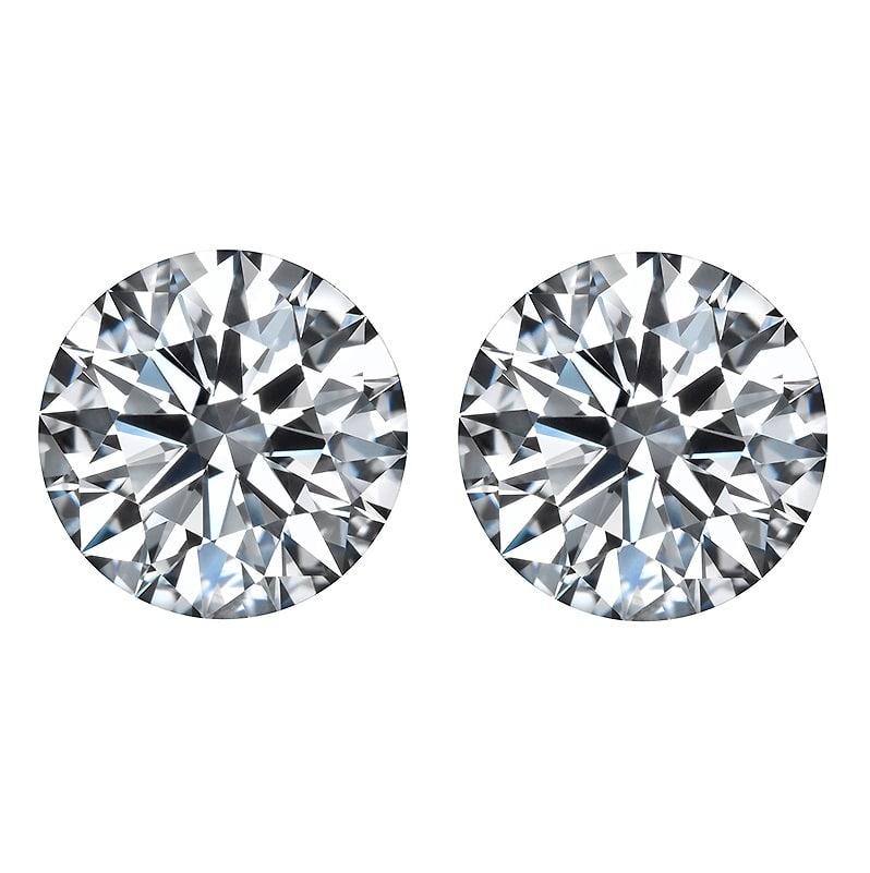 loose round brilliant cut diamonds, Round Brilliant Cut Diamond Matching Pairs & Side Stones