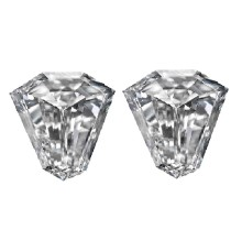 Tapered Bullet Diamond, Tapered Bullet Diamond Cut Matching Pairs & Side Stones
