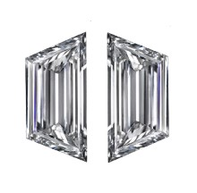 emerald cut diamond, Emerald Cut Diamond Matching Pairs & Side Stones