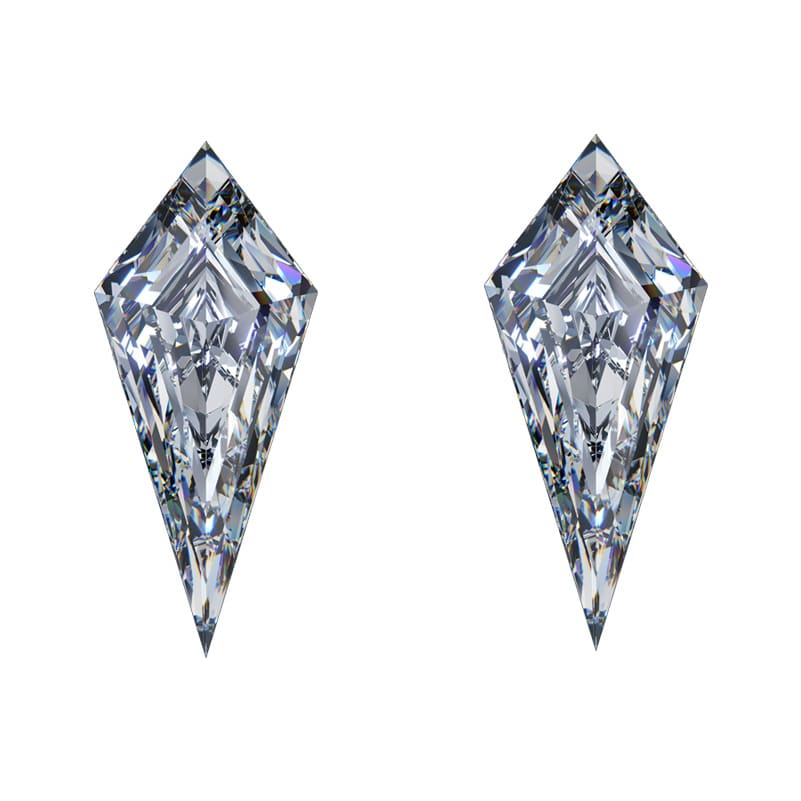 kite shaped diamonds, Matching Kite Shaped Diamond Pairs