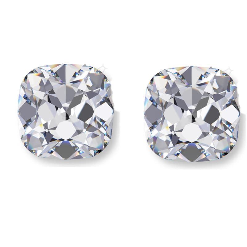 superman shield diamond cut, Matching Antique Cushion Cut Diamond Pairs
