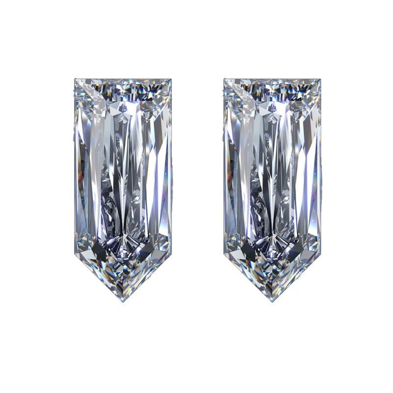 bullet shaped diamond, Matching Straight Bullet Shaped Diamond Pairs